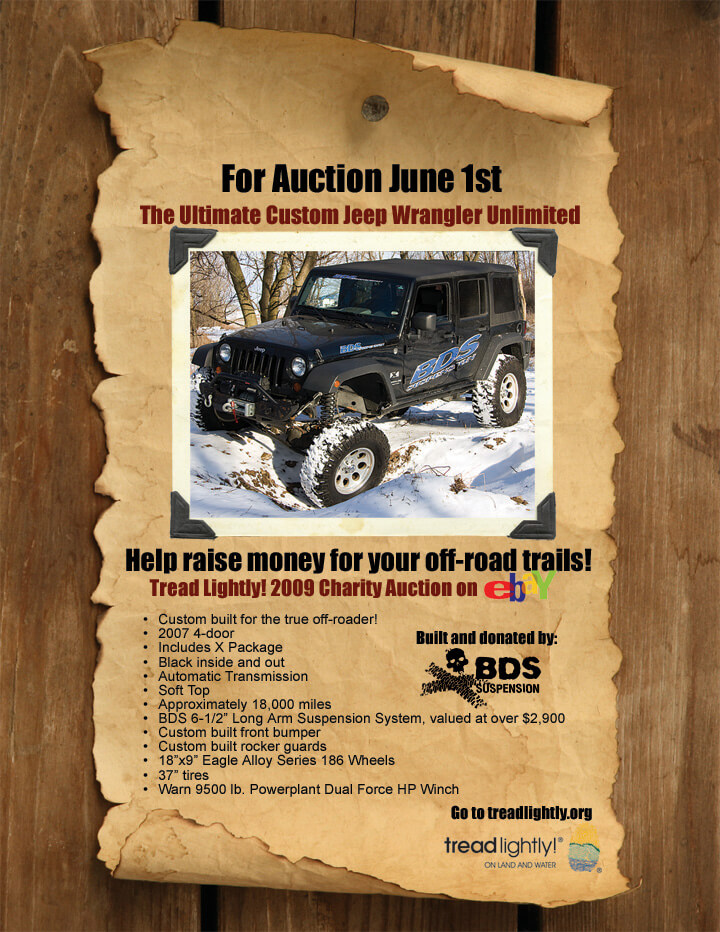 BDS Supports Tread Lightly! Charity Auction