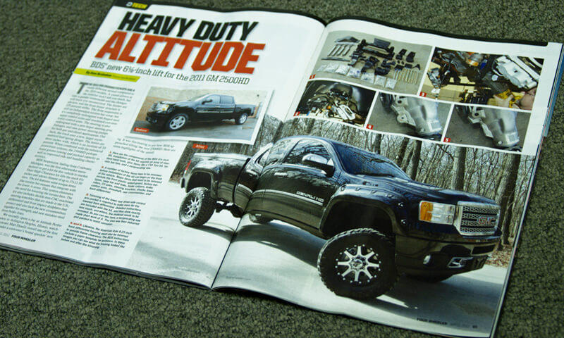 2011HD install in Four Wheeler Magazine