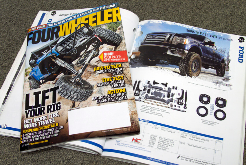 BDS Install in Four Wheeler Magazine (Sept '11 Issue)