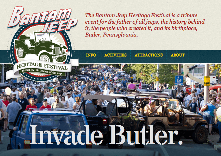 In Route to Butler, PA for the Bantam Jeep Heritage Festival