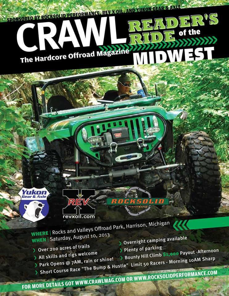 Crawl Mag Reader's Ride this weekend at Rocks & Valleys