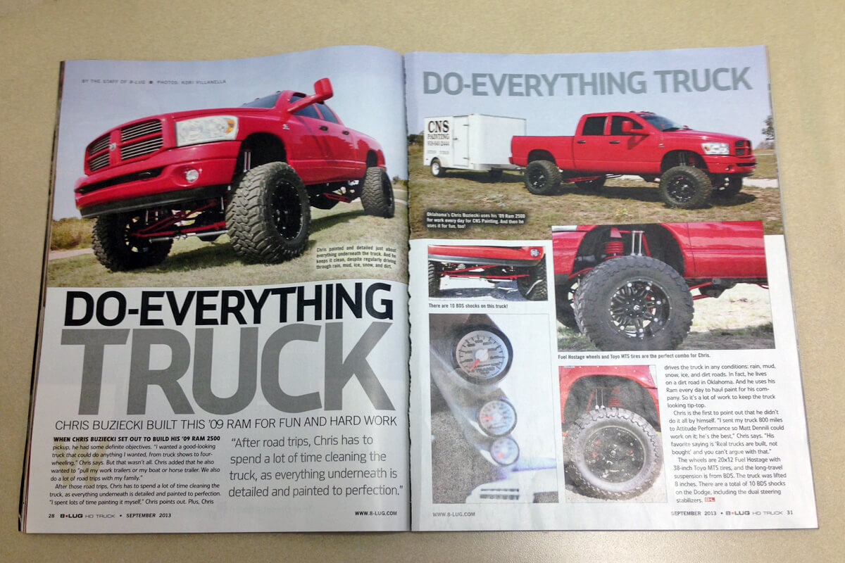 BDS equipped Ram 2500 in 8-Lug Magazine