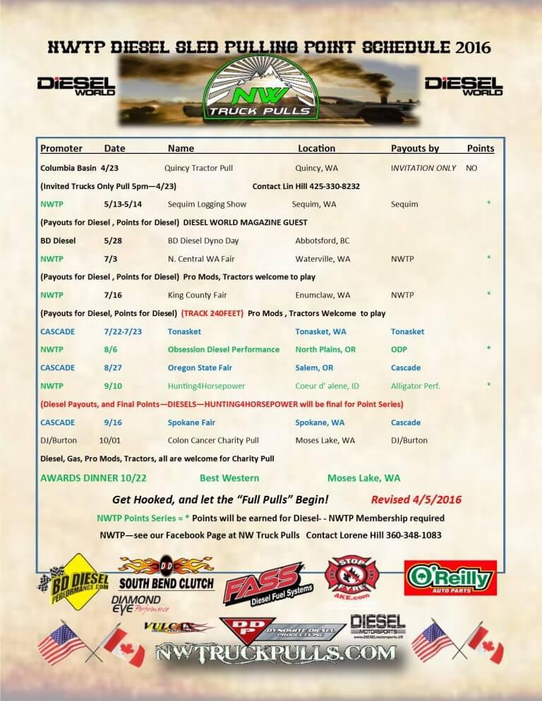 2016 Event Schedule