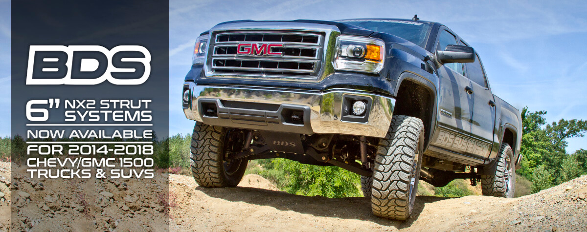 "6"" IFS Systems w/ NX2 Struts for 2014-2018 Chevy/GMC 1500 Trucks & SUV from BDS Suspension"